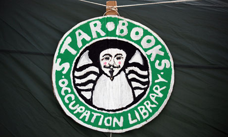Occupy London ibrary 'star books' image